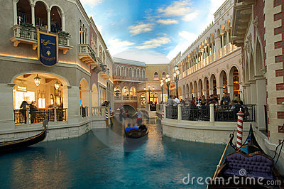 The Venetian Resort Hotel Casino Grand Canal Editorial Stock Image
