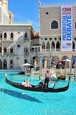 The Venetian Resort Hotel Casino in Las Vegas Editorial Stock Image