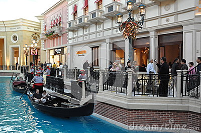 The Venetian Resort Hotel Casino in Las Vegas Editorial Stock Image