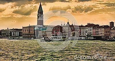 Venetian Sunset Editorial Photo