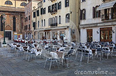 Venetian terrasser Redaktionell Bild