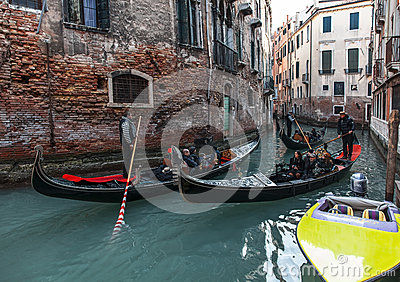 Venetian Traffic Editorial Photography