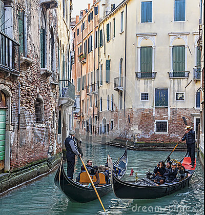 Venetian Traffic Editorial Stock Photo