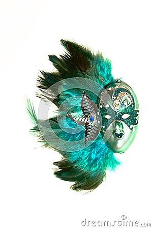 Venetian Turquoise mask