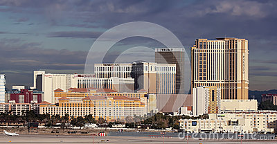 A Venetian View from McCarran International Airport Editorial Photo