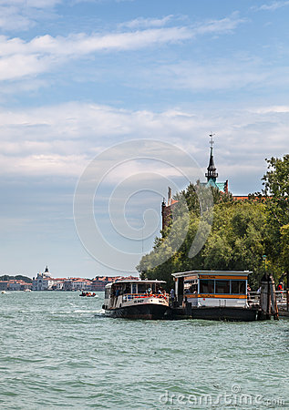 Venetian Waterbus Station Editorial Stock Photo