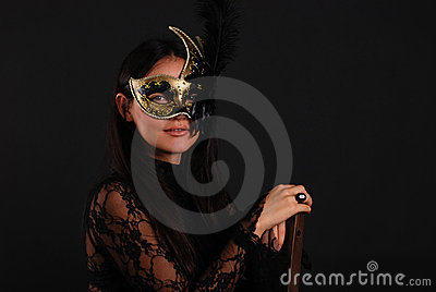 Venetian woman in mask