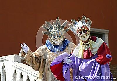 Venetianische Straßen-Ausführende