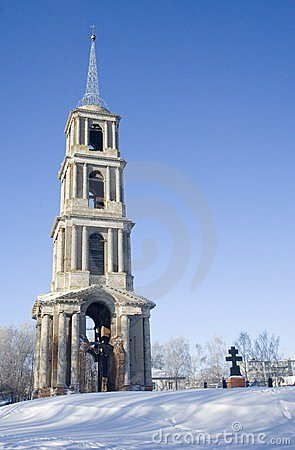 Free Venev. Belltower Of Church Royalty Free Stock Photos - 24070518