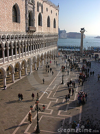 Venezia: Palazzo del Doge dal quadrato del contrassegno della st Fotografia Stock Editoriale