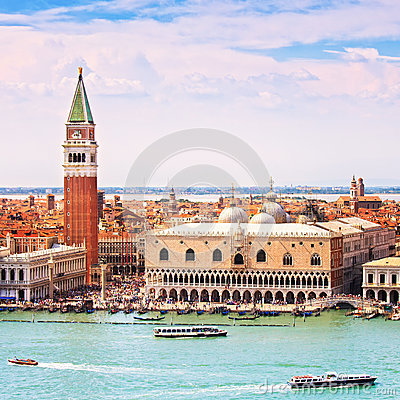 Free Venice Aerial View, Piazza San Marco With Campanile And Doge Pal Stock Photo - 38496250