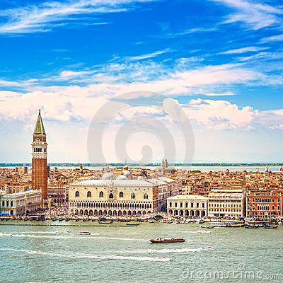 Free Venice Aerial View, Piazza San Marco With Campanile And Doge Palace. Italy Stock Image - 32574341