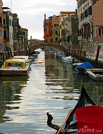 Venice Back Canal Scene