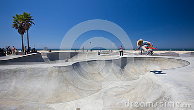 Venice Beach Skatepark Editorial Photo