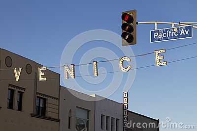 Venice Beach street sign in California