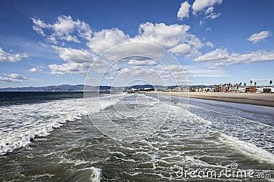 Venice Beach Winter Surf