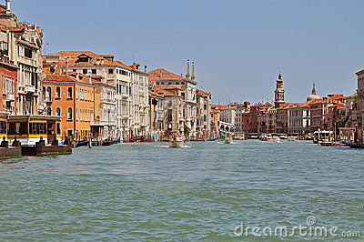 Venice. The big channel (Grand canal).