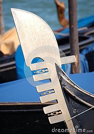 Free Venice - Bow Of A Gondola Royalty Free Stock Photography - 2811997