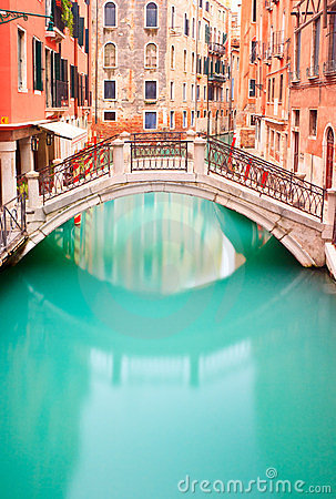 Free Venice, Bridge On Water Canal. Long Exposure Photo Royalty Free Stock Photo - 24142855
