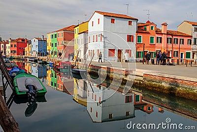 Venice, Burano island Stock Photo