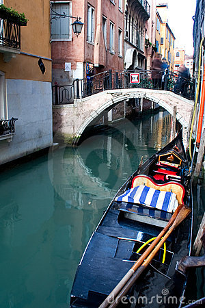 Venice canal and boat