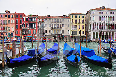 Venice canal and houses
