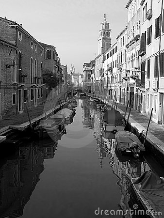 Venice canal in morning light