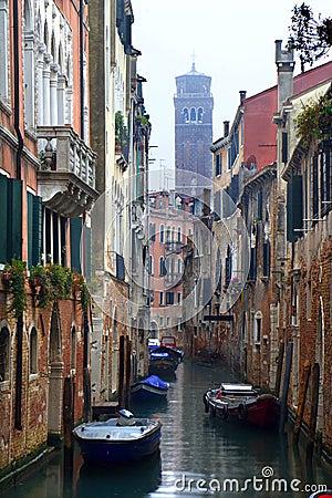 Venice - canal in the rain