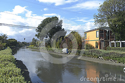 Venice canals in california Editorial Stock Photo