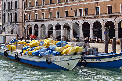 Venice Cargo Editorial Stock Image