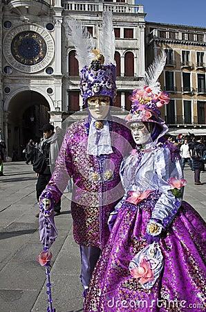 Venice Carnival 2011 Editorial Stock Photo