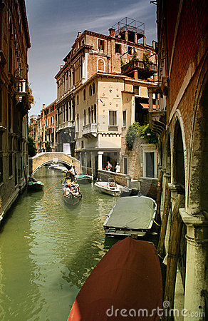Venice Channel boats Editorial Image