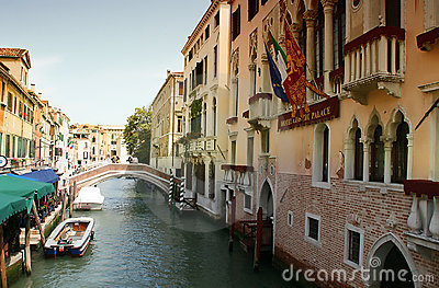 Venice Channel boats Editorial Stock Image