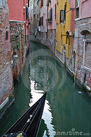 Venice channel with a gondola