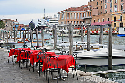 Venice: channel terrace