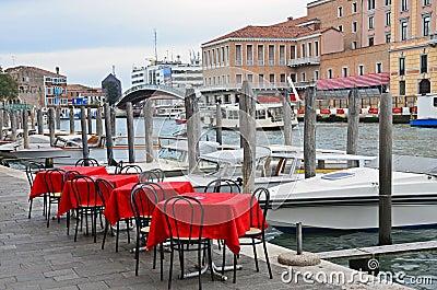 Venice: channel terrace