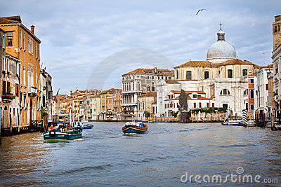 Venice city early morning. The city is wake up Editorial Stock Photo