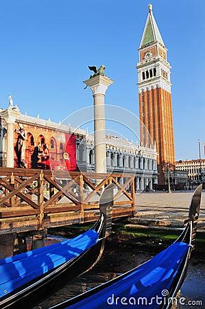 Free Venice Cityscape - St Mark S Campanile Royalty Free Stock Photo - 35804685