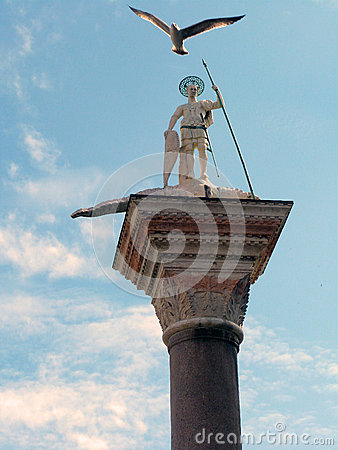 Venice - Column of St. Teodoro of Amasea