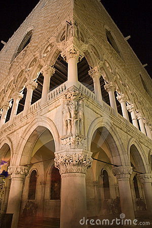 Venice - Doge palace in the night
