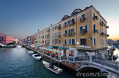 Venice at dusk Editorial Stock Image