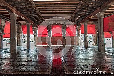 Venice empty market place