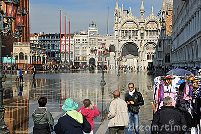 Venice floods Editorial Photo