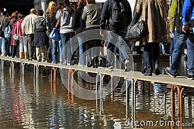 Venice Floods Editorial Photo