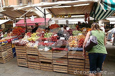 Venice Fruit Market Editorial Stock Photo