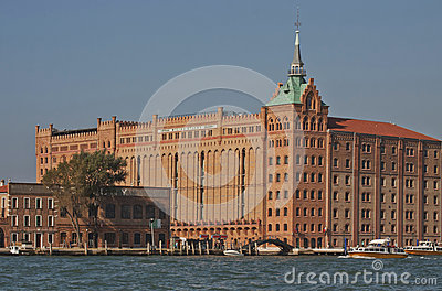 Venice, Giudecca island: Molino Stucky Editorial Stock Photo