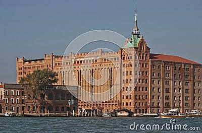 Venice, Giudecca island: Molino Stucky Editorial Stock Photo