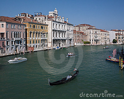 Venice - Gondola - Grand Canal - Italy Editorial Photography