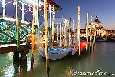 Venice with gondola in  Italy