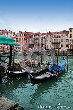 Venice: gondola waiting for a romantic ride